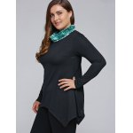 Plus Size Cowl Neck Asymmetrical T-Shirt deal
