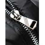 cheap Stand Collar Zip Up Logo Padded Jacket