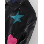 Rivet Star Moon Patched Bomber Jacket deal