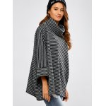 Striped Asymmetric Baggy Sweater deal