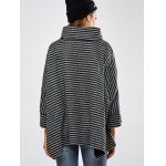 Striped Asymmetric Baggy Sweater for sale