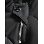 Metal Emblem Zip Up Hooded Quilted Coat photo