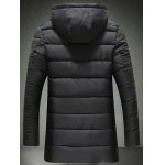 cheap Patch Design Flap Pocket Hooded Padded Coat
