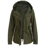 Hooded Drawstring Cargo Jacket