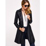 Double-Breasted Faux Leather with Pockets Coat deal