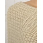 cheap Fringed Asymmetric Knit Cape Sweater
