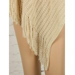 Fringed Asymmetric Knit Cape Sweater deal