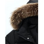 Multi Pockets Quilted Jacket with Detachable Hood deal