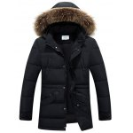 Multi Pockets Quilted Jacket with Detachable Hood