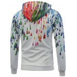 Hooded Long Sleeve Colorful Oil Paint Printed Hoodie deal