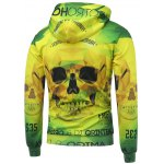 3D Skull Printed Long Sleeve Drawstring Hoodie deal