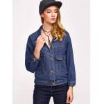 Button Design with Pockets Denim Jacket deal