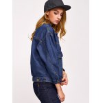 Button Design with Pockets Denim Jacket for sale