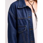 Button Design with Pockets Denim Jacket photo