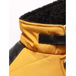 Zippered Detachable Faux Fur Hood Padded Jacket deal
