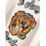 Vintage Tiger Head Letter Graphic Sweater deal
