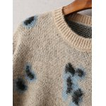 cheap Vintage Cheetah Pattern Sweater