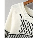 Geometric Net Pattern Loose Sweater deal