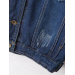 best Ribbed Ethnic Embroidered Jean Jacket