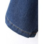 Ribbed Ethnic Embroidered Jean Jacket photo