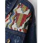 Ribbed Ethnic Embroidered Jean Jacket deal
