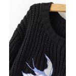 Swallow Embroidery Jumper Sweater deal