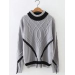 Patched Cable Jumper Sweater