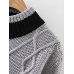 Patched Cable Jumper Sweater deal