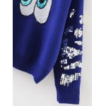 Sequined Eyes Jumper Sweater deal