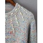 Beaded Rainbow Jumper Sweater for sale