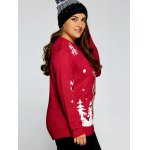 Plus Size Snowflake Fawn Christmas Sweater for sale