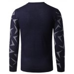 V Neck Abstract Pattern Pullover Sweater deal