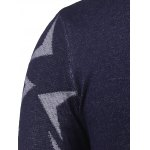 V Neck Abstract Pattern Pullover Sweater photo