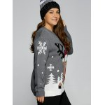 Plus Size Snowflake Elk Christmas Sweater for sale