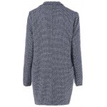 cheap Houndstooth Lapel Wool Coat