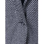 Houndstooth Lapel Wool Coat for sale