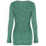 cheap Plus Size Button Embellished Ruched Pullover