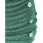 Plus Size Button Embellished Ruched Pullover for sale