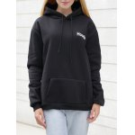 Drawstring Letter Print with Pocket Hoodie