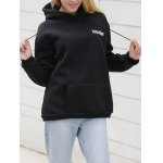 cheap Drawstring Letter Print with Pocket Hoodie