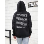 Drawstring Letter Print with Pocket Hoodie for sale