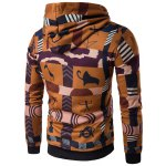 cheap Hooded 3D Ethnic Style Totem Print Hoodie