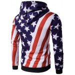 cheap Hooded 3D Stars and Oblique Stripes Print Hoodie