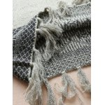 V Neck Jacquard Tassels Sweater for sale
