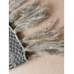 V Neck Jacquard Tassels Sweater photo