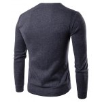 cheap V Neck Double Breasted Knitting Cardigan