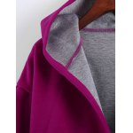Plus Size Hooded Candy Color Long Open Front Coat deal