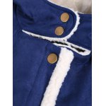 Quilted Fleeced Faux Suede Hooded Coat photo