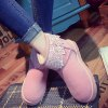 Fuzzy Lace Panel Snow Boots deal