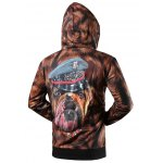 cheap Zip Up Side Pocket 3D Graphic Hoodie